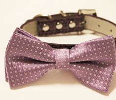 Purple wedding Dog collar Purple Dog Bow tie with by LADogStore, $29.99