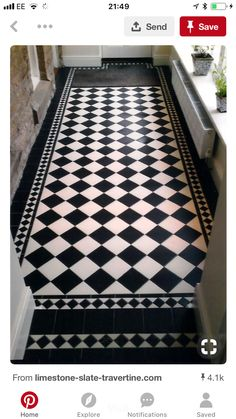 Black and White Kitchen Flooring. 20 Black and White Kitchen Flooring. Black Kitchen Cupboards I Brick Wall I Black and White Tiles Hall Tiles, Tiled Hallway, Hallway Flooring, Bathroom Flooring, Kitchen Flooring, Kitchen Tiles, Room Tiles, Tile Effect Laminate Flooring, Tile Entryway