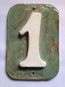 House address / Mailbox Post numbers - handmade ceramic tiles .Applewood pottery | eBay