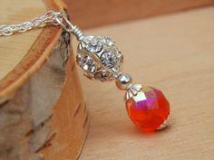 Orange necklace bridesmaid necklace orange by SheJustSaidYes, $16.00