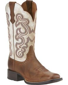 Ariat Women's Quickdraw Cowgirl Boots – Square Toe - Boots Wedding Boots, Wedding Dress, Cute Cowgirl Boots, Western Boots, Western Wear, Western Style, Cow Girl, Ariat Boots Womens, Womens Cowgirl Boots