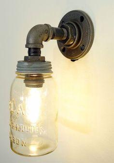 Mason Jar Pendant Light Fixture
