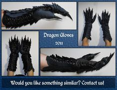 Dragon Gloves by SagandeTeam.deviantart.com on @deviantART