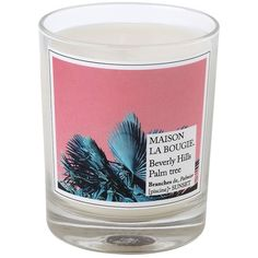 Maison La Bougie Home Beverly Hills Palm Tree Scented Candle (67 AUD) ❤ liked on Polyvore featuring home, home decor, candles & candleholders, multi, wax candles, banana palm tree, scented candles, fragrance candles and leaves candle