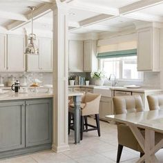disguise kitchen beams with coffered ceiling?