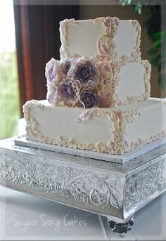 Wedding Cakes Fondant Filigree Work