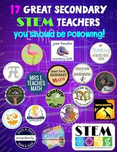 FREE STEM Materials from 17 STEM teachers you should be following.