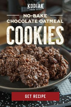 Chocolate Oatmeal Cookies, Oatmeal Cookie Recipes, Cookie Desserts, Candy Recipes, Dessert Recipes, No Bake Oatmeal Bars, Yummy Cookies, Best No Bake Cookies, Healthy Sweets