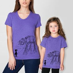 Mother Daughter Matching T-shirts My Star Wars AT-AT Pet, mommy and daughter shirt set, mother's day, gift for mom, Star Wars by EngramClothing on Etsy https://www.etsy.com/listing/91618482/mother-daughter-matching-t-shirts-my