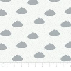 Camelot Cottons House Designer - Bonne Nuit - Clouds in White