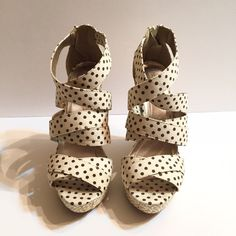 Polka Dot Wedges Polka dot wedges from Charlotte Russe. These wedges were only worn on one occasion and are in great condition. Charlotte Russe Shoes Wedges