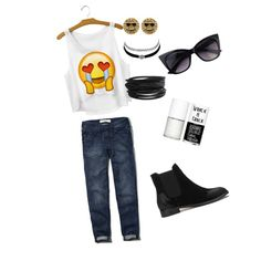 weekend look by ellec17 on Polyvore featuring Abercrombie & Fitch, Pieces, Juicy Couture, Charlotte Russe and Uslu Airlines