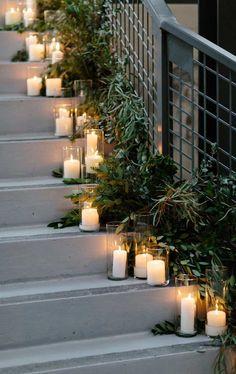 12 Fabulous wedding staircase decoration ideas - how to decorate a staircase with flowers ,staircase draping Wedding Staircase Decoration, Wedding Stairs, Indian Wedding Decorations, Wedding Entrance, Decor Wedding, Floral Wedding, Wedding Colors, Wedding Flowers, Wedding Flower Arrangements