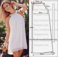 Este modelo de vestido é muito