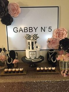 You really don't want to miss this gorgeous Chanel Birthday Party! The dessert table is incredible!! See more party ideas and share yours at CatchMyParty.com