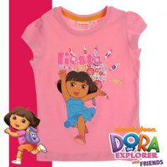 Детска тениска с Дора Изследователката Dora The Explorer, Princess Peach, Mario, Kids, T Shirt, Fictional Characters, Women, Fiestas, Young Children
