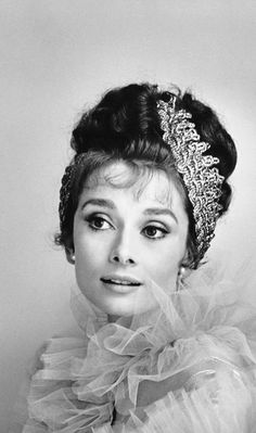 """Audrey Hepburn, promotional shot for """"My Fair Lady"""", in 1963 by Ceacil Beaton."""