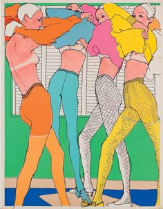 Antonio Lopez, Lingerie, 1966, published in Elle France © Courtesy of Estate of Antonio Lopez and Juan Ramos and Galerie Bartsch & Chariau. From the exhibition Drawing Fashion, MKG Hamburg Dec 19 -...