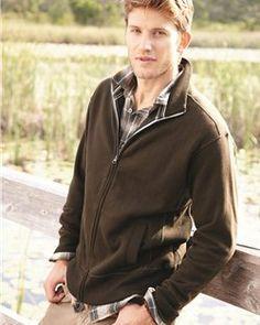 J America- Full Zip Sweatshirt- Polyester Blend 80%20%- 9.75oz- 8984