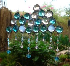 Cloud and Raindrop Wind Chimes   Clouds & rain suncatcher by Itreat   Craft- Mobiles, Wind Chimes and ...