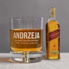 Zestaw szklanka i buteleczka whisky SZKLANECZKA idealny na urodziny