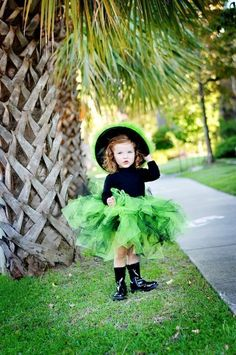 Neon Green Witch Infant thru Adult. $55.00, via Etsy.