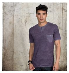 This one button henley crew to be your go-to favorite tee.