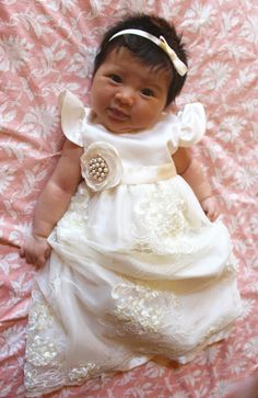 Baby Girl Christening Dress Baby Baptism Dress by BabyGalore0 ...