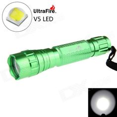 Ultrafire 501B XP-L V5 LED 5-Mode 1200lm Super Bright White Flashlight - Green (1 x 18650). Note: We are currently unable to ship to addresses in HongKong, mainland of China.. Tags: #Lights #Lighting #Flashlights #LED #Flashlights #18650 #Flashlights