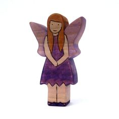 Plum Fairy Toy Waldorf Toy Handmade Wooden by ArmadilloDreams