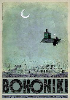 Bohoniki - a Tatar's Village in PolandCheck also other posters from PLAKAT-POLSKA Original Polish poster designer: Ryszard Kaja year: Vintage Ads, Vintage Posters, Modern Posters, Retro Posters, Polish Posters, Art Deco Posters, Art Deco Period, Art Graphique, Illustrations And Posters