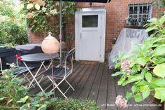 Teil des Hofensembles in Isernhagen: Terrasse des Gartenhauses Patio, Outdoor Decor, Home Decor, Detached House, Real Estates, Garden Cottage, Homes, Decoration Home, Room Decor