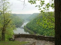 Hawk's Nest State Park overlooking the New River Gorge.