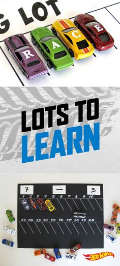 Make learning fun by using Hot Wheels cars to teach your kids spelling and math! Learn how right here.