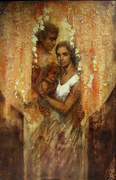 The Fountain- Original Artwork by Annie Henrie. I just saw this painting at the LDS Visitor's center in Portland, Or. It has an uncanny resemblance to my niece Alex Hatch and her fiance Richard Herrera