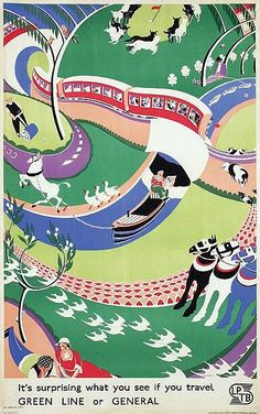 "Roy Meldrum's ""It's surprising what you see if you travel"" Green Line or General, c1933"