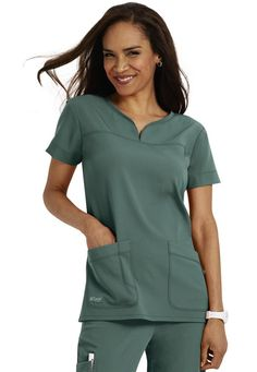 Love these for work! Comfy stretchy scrubs by Grey's Anatomy Signature Series Dental Scrubs, Medical Scrubs, Medical Uniforms, Work Uniforms, Mom Wardrobe, Cute Scrubs, Scrubs Uniform, Greys Anatomy Scrubs, Nursing Clothes