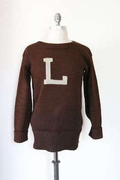 vintage letterman sweater / 1940s letterman by dingaling on Etsy, $46.00