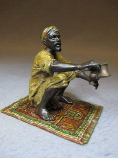 Franz BERGMAN (1898-1963) Vienna bronze man sculpture