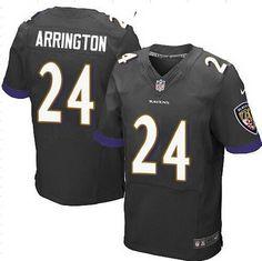 Men's Baltimore Ravens #24 Kyle Arrington Black Alternate NFL Nike Elite Jersey
