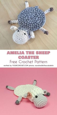 Knitting Patterns Toys Amelia the Sheep Coaster Free Crochet PatternBaby Knitting Patterns Toys Crochet Pattern – Check this out now.Turn the cuteness dial up to 11 with this sweet sheep coaster. Crochet Sheep, Crochet Diy, Crochet Gifts, Doilies Crochet, Thread Crochet, Crochet Stitches, Knitting Patterns, Crochet Patterns, Doily Patterns