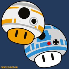 BB-8 and R2 Mushrooms! #Mario #StarWars