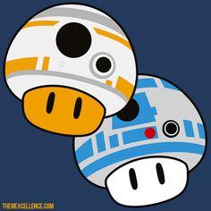 BB-8 and R2 Mushrooms! #Mario #StarWars