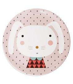 piatto bunny rosa