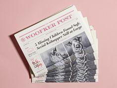 Fictional Newspaper Design by Katty Huertas Newspaper Design Layout, Book Layout, Layout Design, Editorial Layout, Editorial Design, Diys, Newspaper Cover, Graphic Design Resume, Web Design Trends