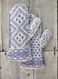 """The finished mittens measure 4"""" x 10.5"""" and fit an average womans hand. The size can be adjusted by going up a needle size for larger mittens or down a needle for a smaller size."""