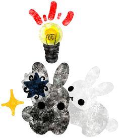 フリーのイラスト素材おしゃれで可愛いうさぎのイラスト  Free Illustration Stylish Pretty Little Rabbits   http://ift.tt/2dMQduV