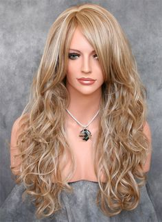 KeeWig Fashion Synthetic Wig Long Curly Light Brown SACA #F14-22