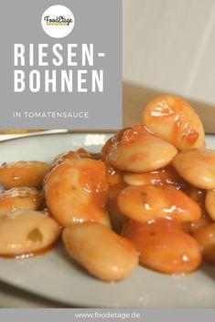 #riesenbohnen #antipasti Pretzel Bites, Bread, Fruit, Food, Beans Recipes, Meal, The Fruit, Essen, Hoods