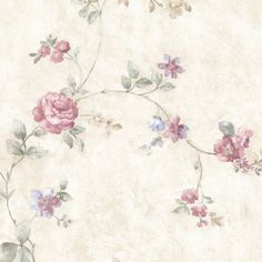 Mirage Mary Floral Vine Wallpaper Pink - 992-44420